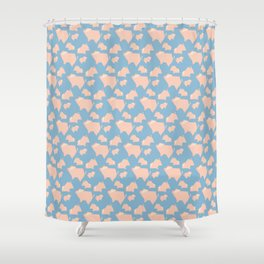 Paper Pigs (Patterns Please) Shower Curtain