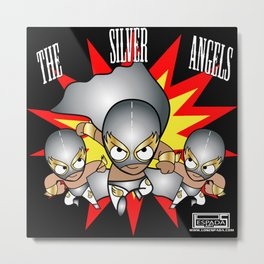 The Silver Angels Metal Print