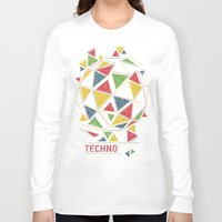 techno Long Sleeve T-shirts featuring Techno by Sitchko Igor