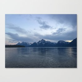 Grand Tetons at Sunset Canvas Print