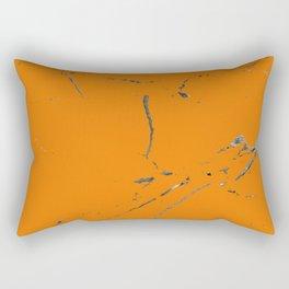 bold orange marble texture Rectangular Pillow