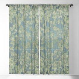 Verdant Leaves Sheer Curtain