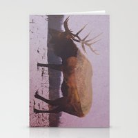 elk Stationery Cards featuring Elk by Andreas Lie