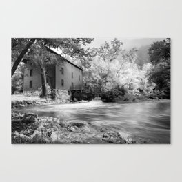Alley Spring Mill - Infrared BW Canvas Print
