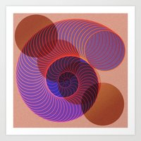 arya Art Prints featuring Spiral Nautical Shell by Hinal Arya