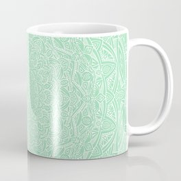 Most Detailed Mandala! Mint Green Color Intricate Detail Ethnic Mandalas Zentangle Maze Pattern Coffee Mug