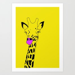 Goldie The Giraffe  Art Print