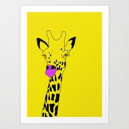Goldie The Giraffe  Art Print
