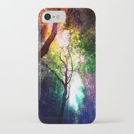 rainbow rain iPhone Case