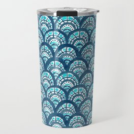 JEWELED SCALES Mermaid Watercolor Travel Mug