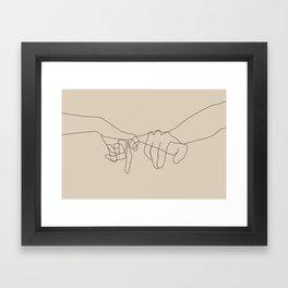 Beige Pinky Framed Art Print