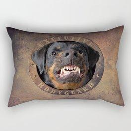 Executive bodyguard Angry rottweiler Rectangular Pillow
