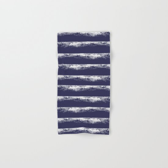 Irregular Stripes Dark Blue Hand & Bath Towel