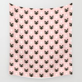 Siamese Cat cute cat paw print pink pastel kids fur baby pet portrait siamese cat owner must have  Wall Tapestry