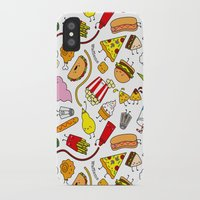 junk food iPhone & iPod Cases featuring Junk food doodle by Waffleme & Co.