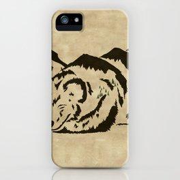 Sleepy Bear Mountain iPhone Case