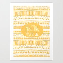 Hakuna Matata Yellow Art Print