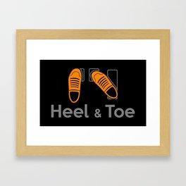 Heel & Toe Framed Art Print