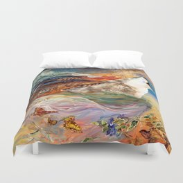 The spirit Wolf Abstract Duvet Cover