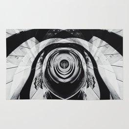 Geometric Art - Black Dog Rug