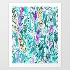 FEATHER DANCE Art Print