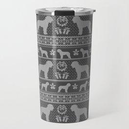 Ugly Christmas sweater   Lagotto Romagnolo grey Travel Mug