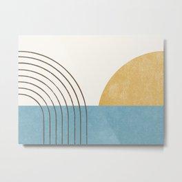 Sunny Ocean Horizon Metal Print