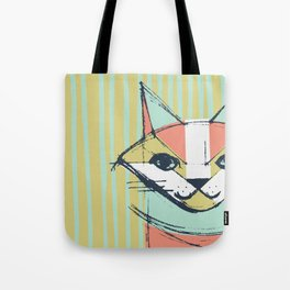 Cubist Cat Study #10 by Friztin Tote Bag