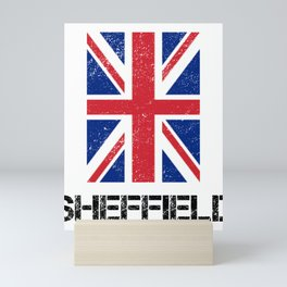 Weathered Look Sheffield Union Jack Graphic Mini Art Print