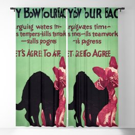 Willard Frederic Elmes - Why bow your back - vintage poster Blackout Curtain