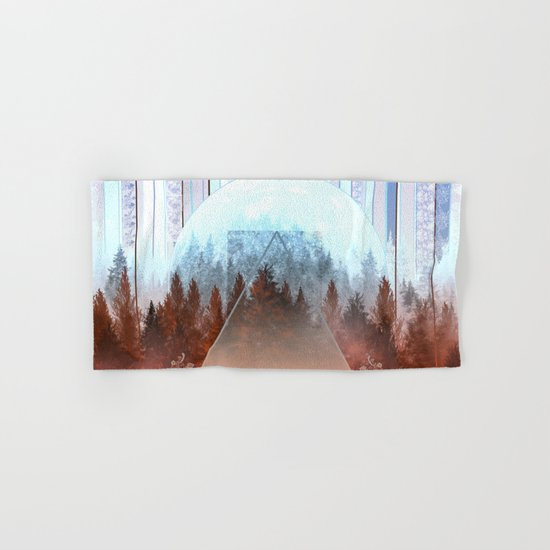 abstract floral forest 2 Hand & Bath Towel