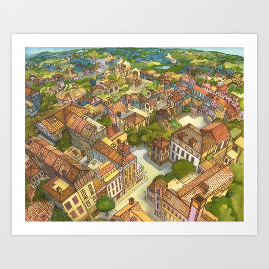 Aerial Landscape Art Print