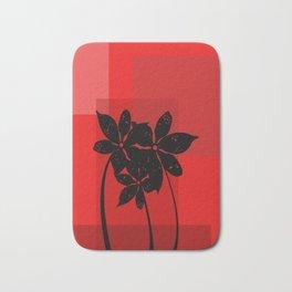 Black flowers Bath Mat
