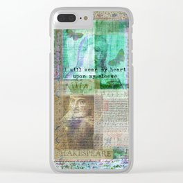 Shakespeare romantic quote Clear iPhone Case