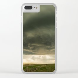 Beehive - Spiraling Storm Hovers Over Western Nebraska Landscape Clear iPhone Case