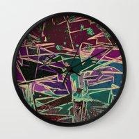 batik Wall Clocks featuring Batik Cave by Glanoramay