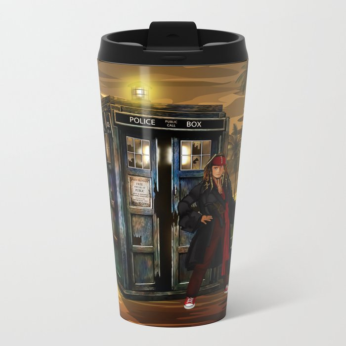 10th Doctor who Lost in the pirates age iPhone 4 4s 5 5s 5c, ipod, ipad, pillow case and tshirt Metal Travel Mug