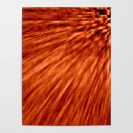 Burnt Orange Pixel Wind Poster