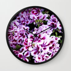 Martha Washington Geranium I Wall Clock