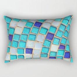 Blue Tiles - an abstract photograph. Rectangular Pillow