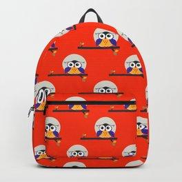 big eyed halloween owl Backpack