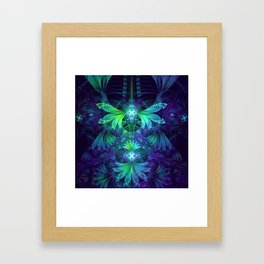 The Clockwork Kite Wings of a Blue-Green Dragonfly Framed Art Print