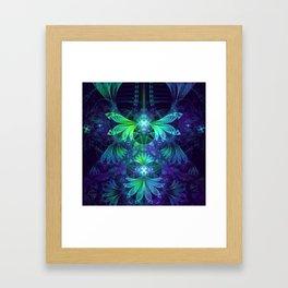 The Clockwork Kite Wings of a Blue-Green Dragonfly Framed Art Print