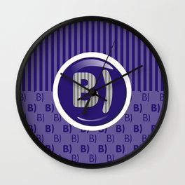 Indigo Writer's Mood Wall Clock