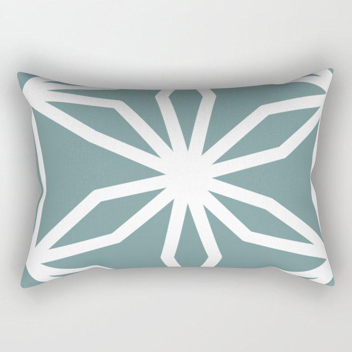 CUBIC FLOWER PATTERN - blue Rectangular Pillow