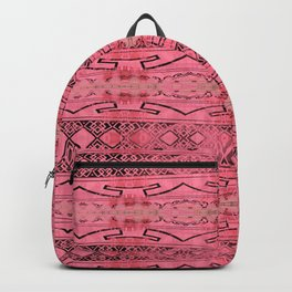 Vintage Tribal Distressed Coral Pink Backpack