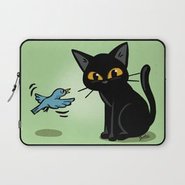 Talking with a bird Laptop Sleeve