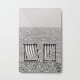 Vintage Deck Chairs. Metal Print