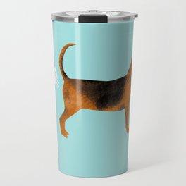 Bloodhound dog breed funny dog fart Travel Mug