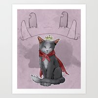 sith Art Prints featuring Cait Sith by poopbird